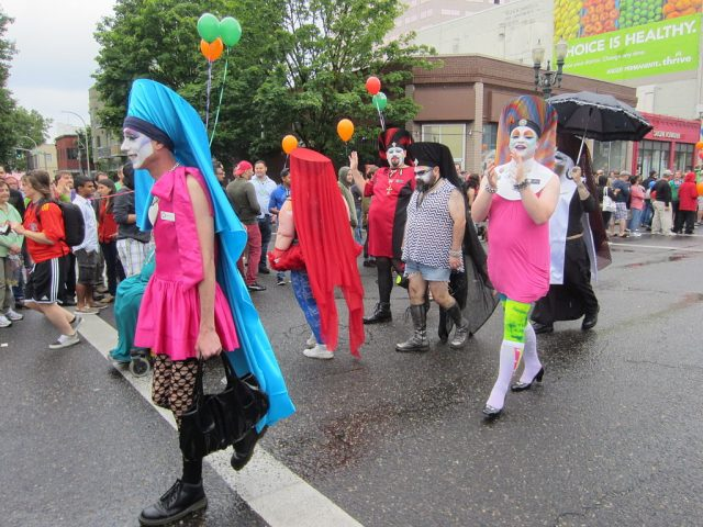 Marchers at Pride Northwest in Portland in 2014