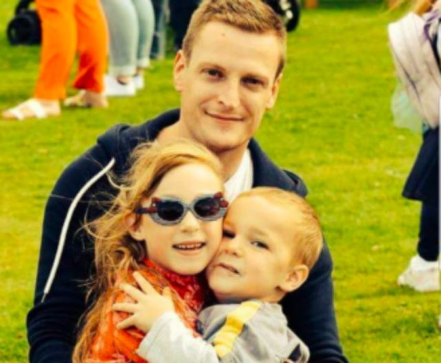 Ben Hamilton-Rhys with Amelia-Grace and Jack