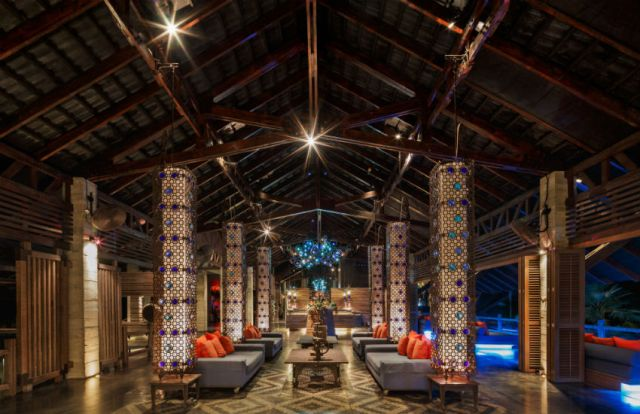 The The reception lobby at The Slate in Phuket, Thailand