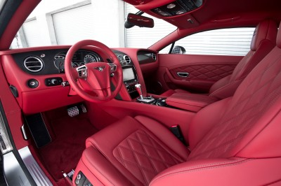Bentley pink leather