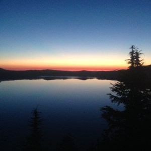 Crater Lake, Oregon, sunrise v2