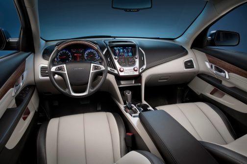 2016 GMC Terrain Denali light titanium-jet black interior
