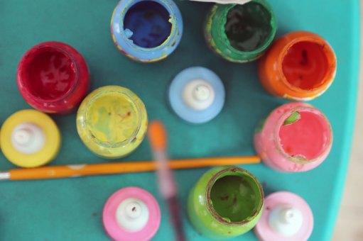 Paint in jars
