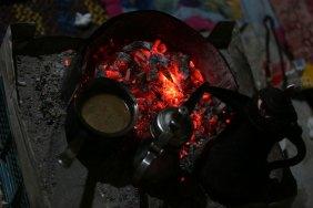 Coffee on burning coals