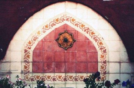 Redish ceramic wall