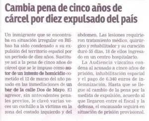 """""""El Nervión"""", 18-3-2015, página 5."""