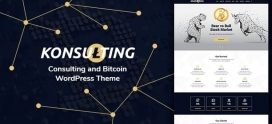 Konsulting (Consulting & Bitcoin WordPress Theme)