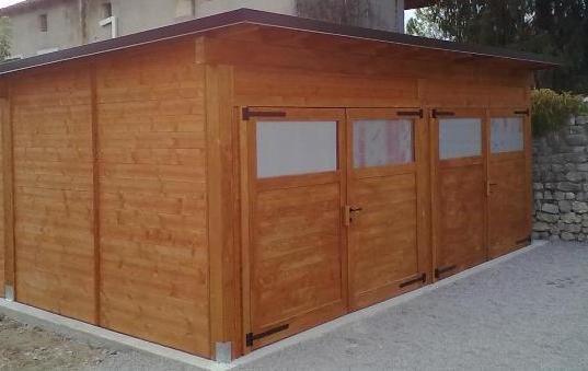 garage in legno 2 posti auto 2011