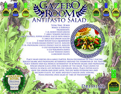 Antipasto Salad Original Restaurant Recipes Printable Template
