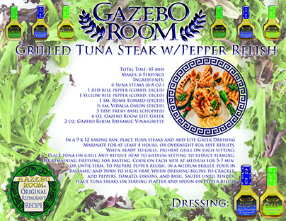 Grilled Tuna Steak Original Restaurant Recipes Printable