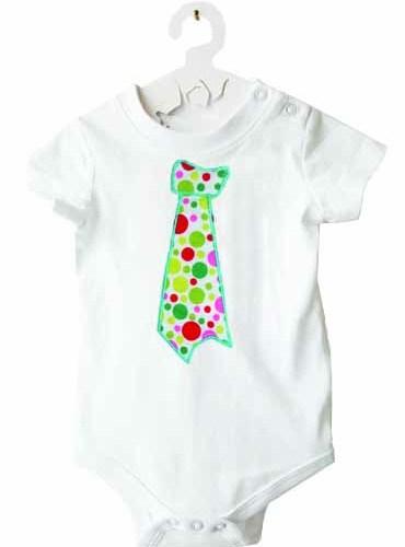Body cravate à petits pois-6 mois