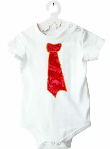 Body cravate ROUGE-6 mois