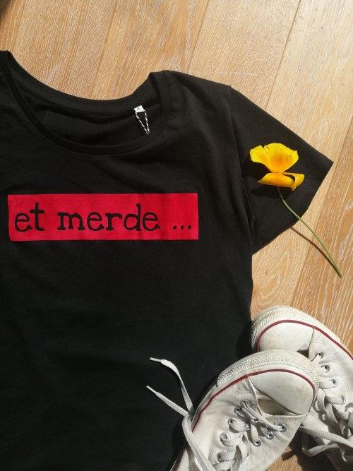 t-shirt et merde