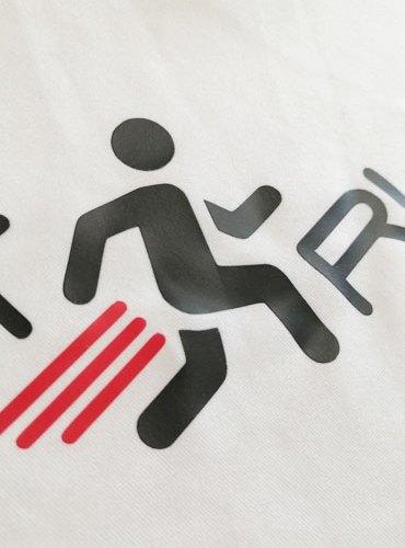 T-shirt Just Run