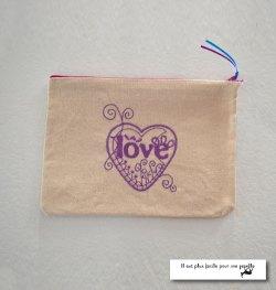 Pochette Love-voilet
