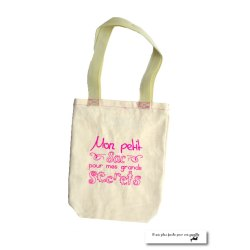 MINI -Tote bag fait main «mon petit sac»