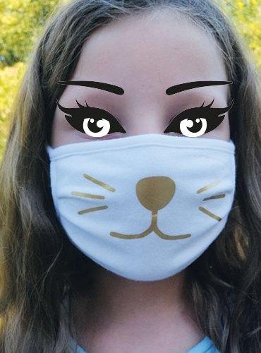 Masque barrière : masque chat-CH10
