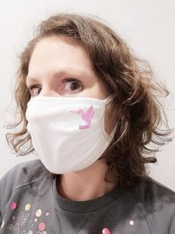 Masque barrière : masque Adulte Colibri