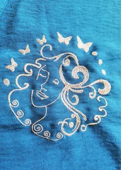 TUNIQUE CANARD BRODEE -La rêveuse