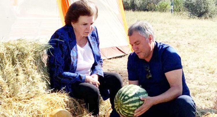 Как Володин учил Терешкову арбузы выбирать
