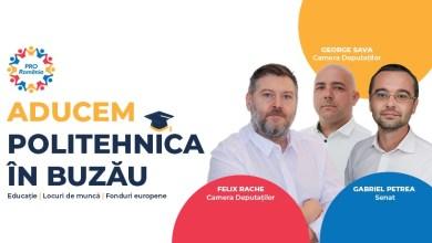 """Photo of Felix Rache: """"Aducem Politehnica în Buzău!"""" Gabriel Petrea: """"Politehnica în Buzău înseamnă educație de calitate, locuri de muncă și fonduri europene."""". George Sava: """"Ținem copiii Buzăului acasă!"""""""