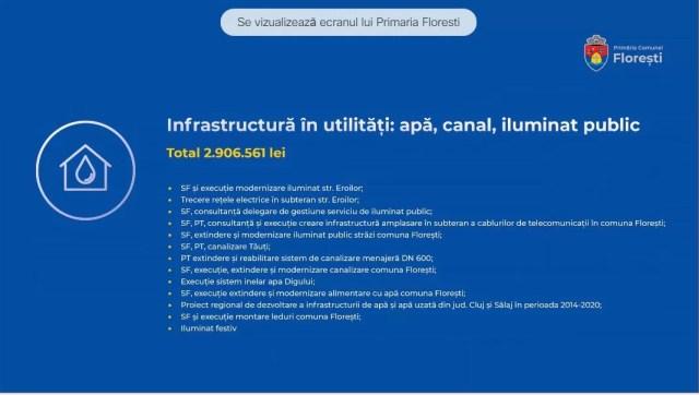 infrastructură utilități florești