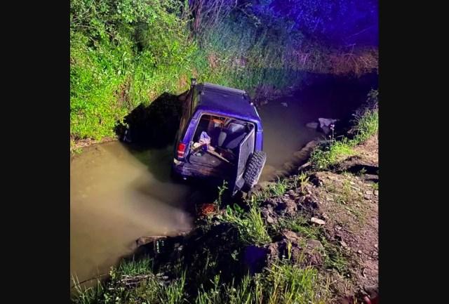 Accident Bistrita - Cinci tineri au sarit cu masina in rau
