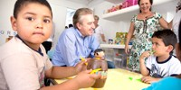 Novo Centro de Educação para o Bairro Novo atende 300 crianças