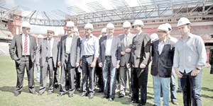 João do Suco acompanha Comissão da Copa em vistoria à Baixada