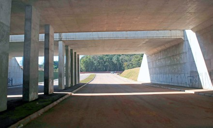 Metade da pavimentação dos acessos à trincheira da Ceasa está concluída
