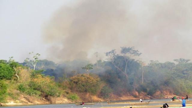 As queimadas assolam a Ilha do Bananal