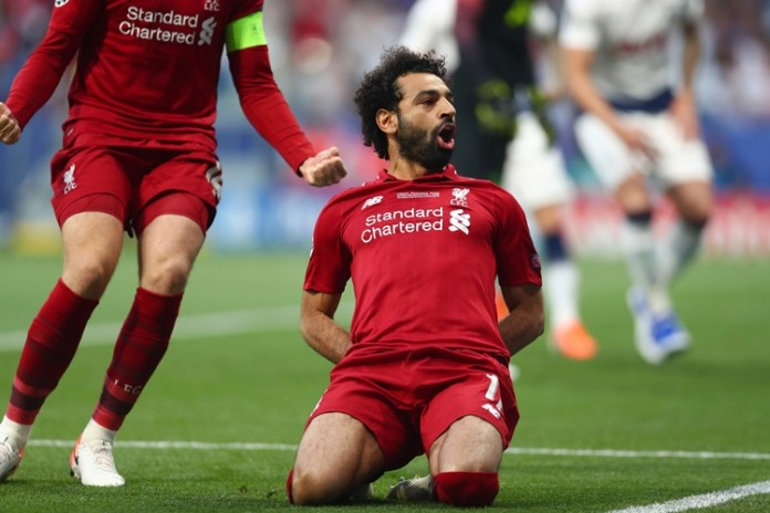 Salah abriu o placar para o Liverpool. Foto: @LFC/Twitter/Reprodução