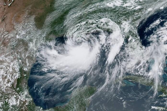 A tempestade tropical Barry se aproxima da costa da Louisiana. Foto: NOAA/Reprodução