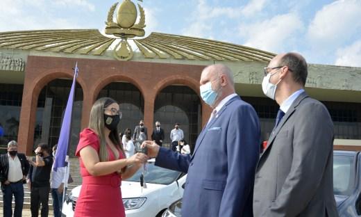 Governador Mauro Carlesse entregou 62 viaturas que vão reforçar o trabalho da Polícia Civil