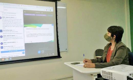 Neila Rodrigues Silva, servidora da Secretaria da Saúde, foi uma das participantes do curso