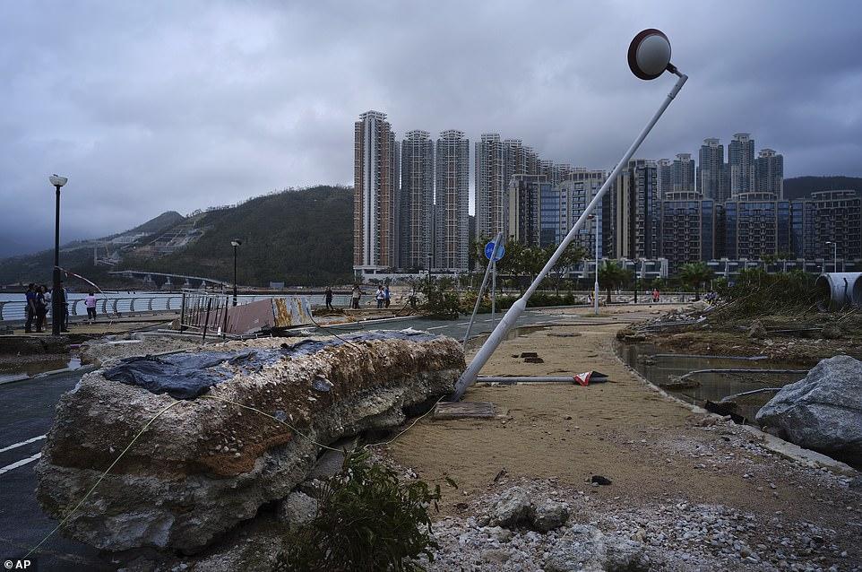 Hong Kong Asia Typhoon