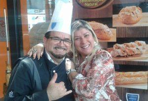Samantha com o Chef Luiz Farias.