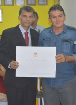 Antônio Félix recebendo de Antenor Coelho