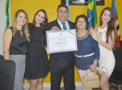 Família: Gisele, Fernanda, Túlio, Lúcia e Fabiana