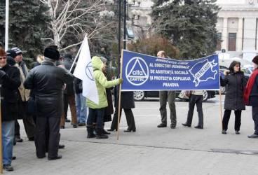 Sindicatele au protestat la Ploiești/GALERIE FOTO