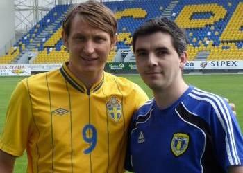 """Umbro a filmat pe """"Ilie Oană"""" clipul de promovare al echipamentului pentru Euro 2012 al echipei naţionale a Suediei!"""