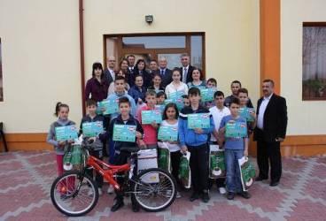 Cei mai buni tineri biciclişti din Bucov s-au întrecut într-un concurs cu premii