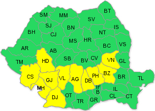 Prahova – sub cod galben de ploi puternice