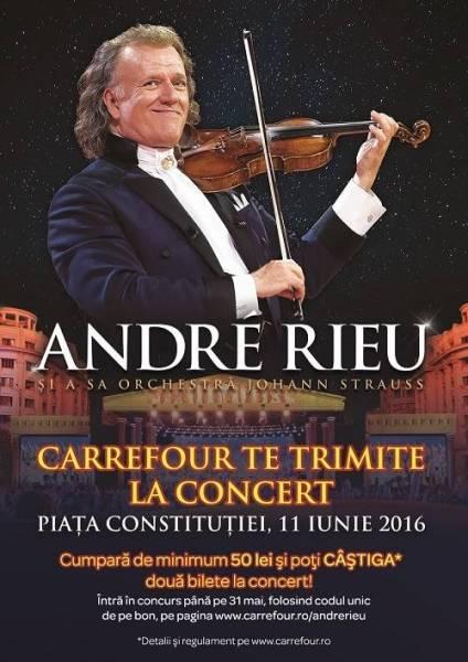116 invitaţii duble la concertul Andre Rieu, oferite de Carrefour