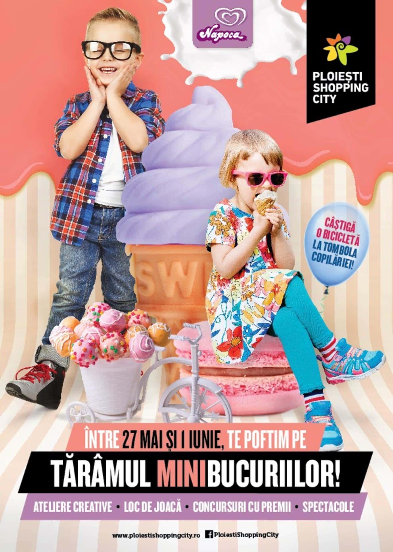 Șase zile de distracție pentru cei mici pe Tărâmul Minibucuriilor la Ploiești Shopping City