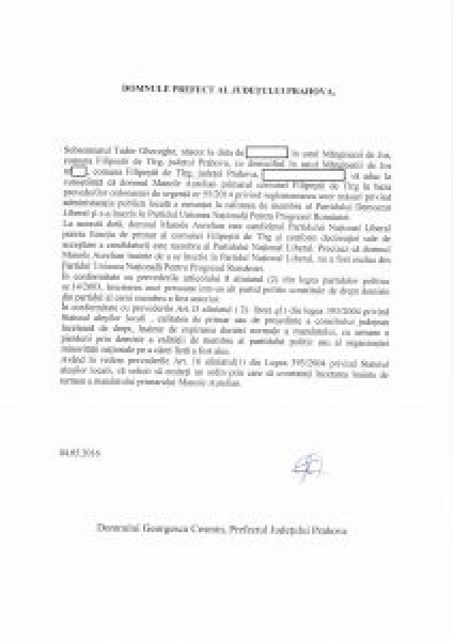 document filipesti targ