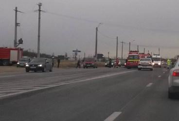 Accident mortal la Floreşti pe DN1 aglomerat de Sărbători (foto)