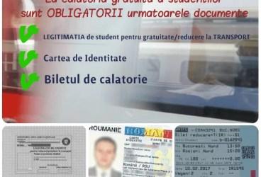 Documente obligatorii pentru studenţii care vor să circule gratuit cu trenul