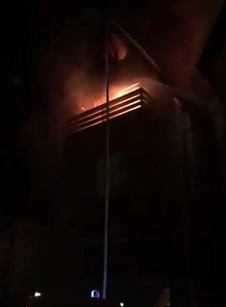 Incendiu de amploare la un hotel exclusivist din Sinaia
