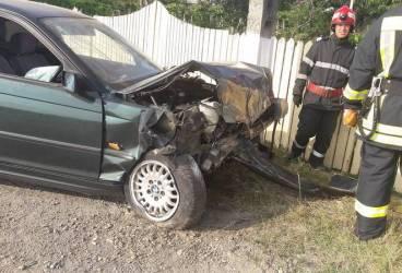 Imagini de la accidentul produs luni seara pe DN1, la Potigrafu
